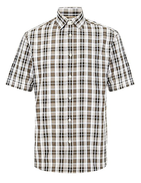 Easy Care Layer Checked Shirt with Modal