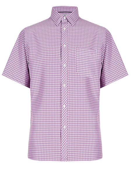 Easy Care Modal Blend Shirt with Pocket