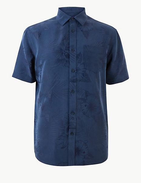 Modal Rich Floral Print Shirt