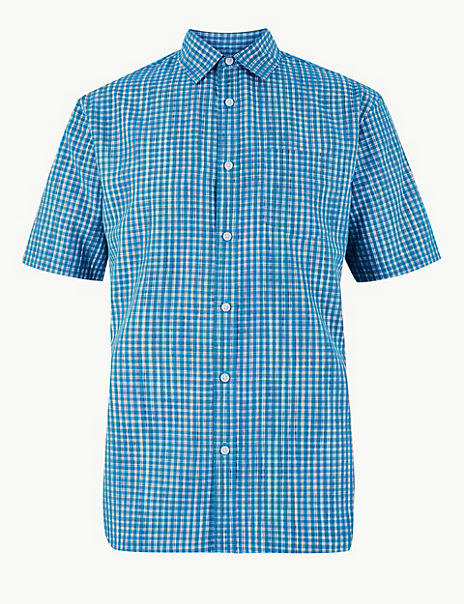 Modal Blend Checked Relaxed Fit Shirt