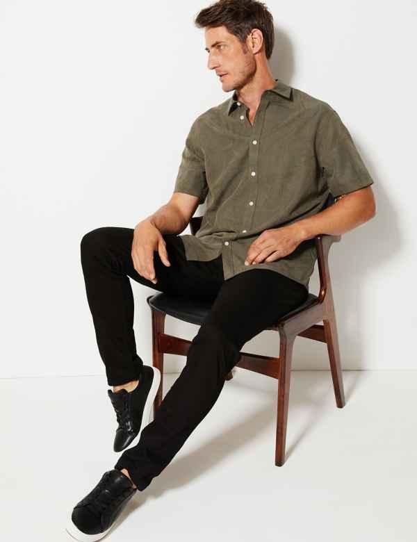 51ff54e8fc7d Bamboo Jacquard Short Sleeve Shirt. New