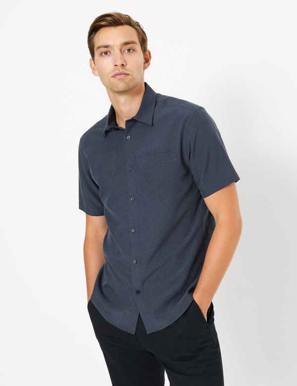 Mens Blue Shirts | Royal & Navy Blue Shirts for Men| M&S