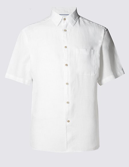 2in Longer Pure Linen Easy to Iron Shirt