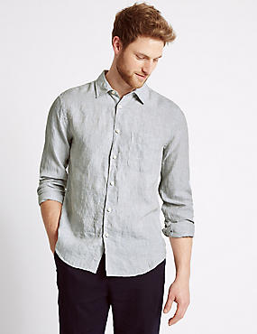 Pure Linen Easy Care Slim Fit Shirt
