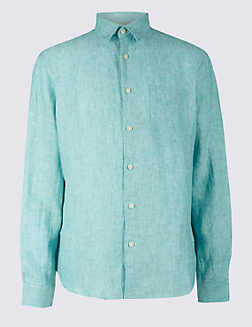 Pure Linen Shirt with Pocket