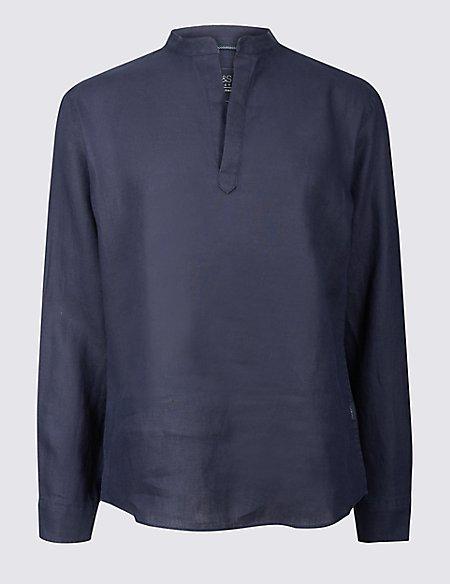 Pure Linen Overhead Shirt