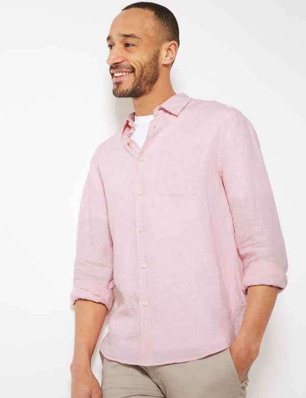 4ea5beb0bb Mens Linen Clothing - Shirts