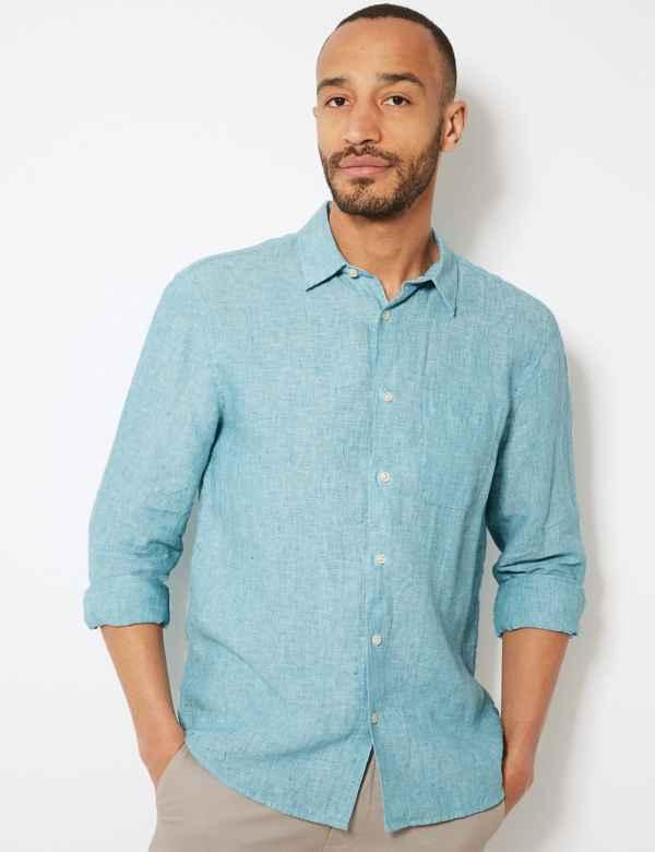 ea73865a5f0e Mens Linen Clothing - Shirts
