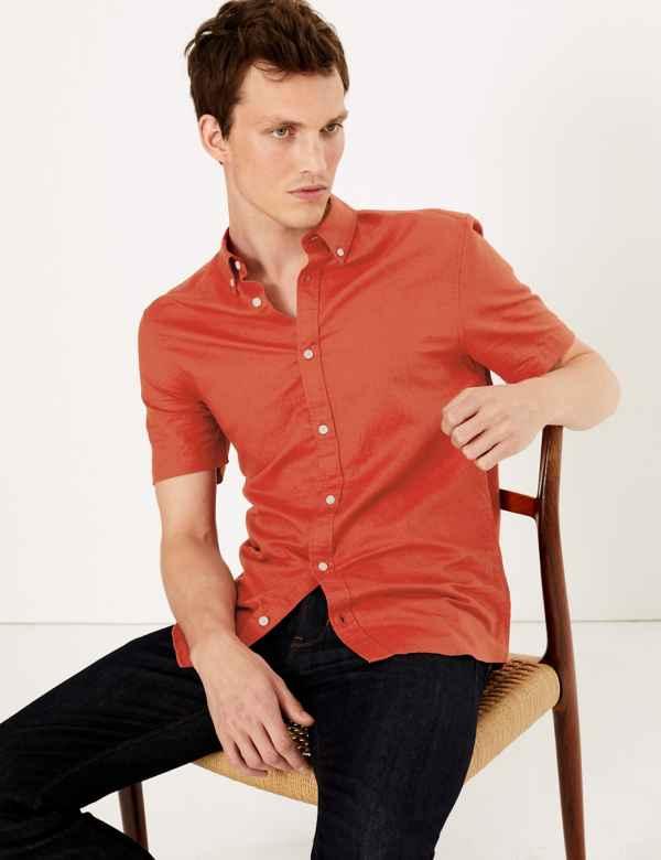 Mens Linen Clothing - Shirts, Trousers & Suits For Men | M&S