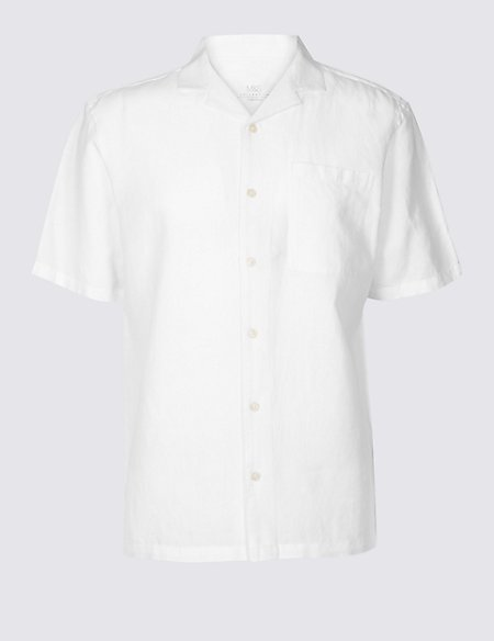 Linen Rich Shirt with Pocket