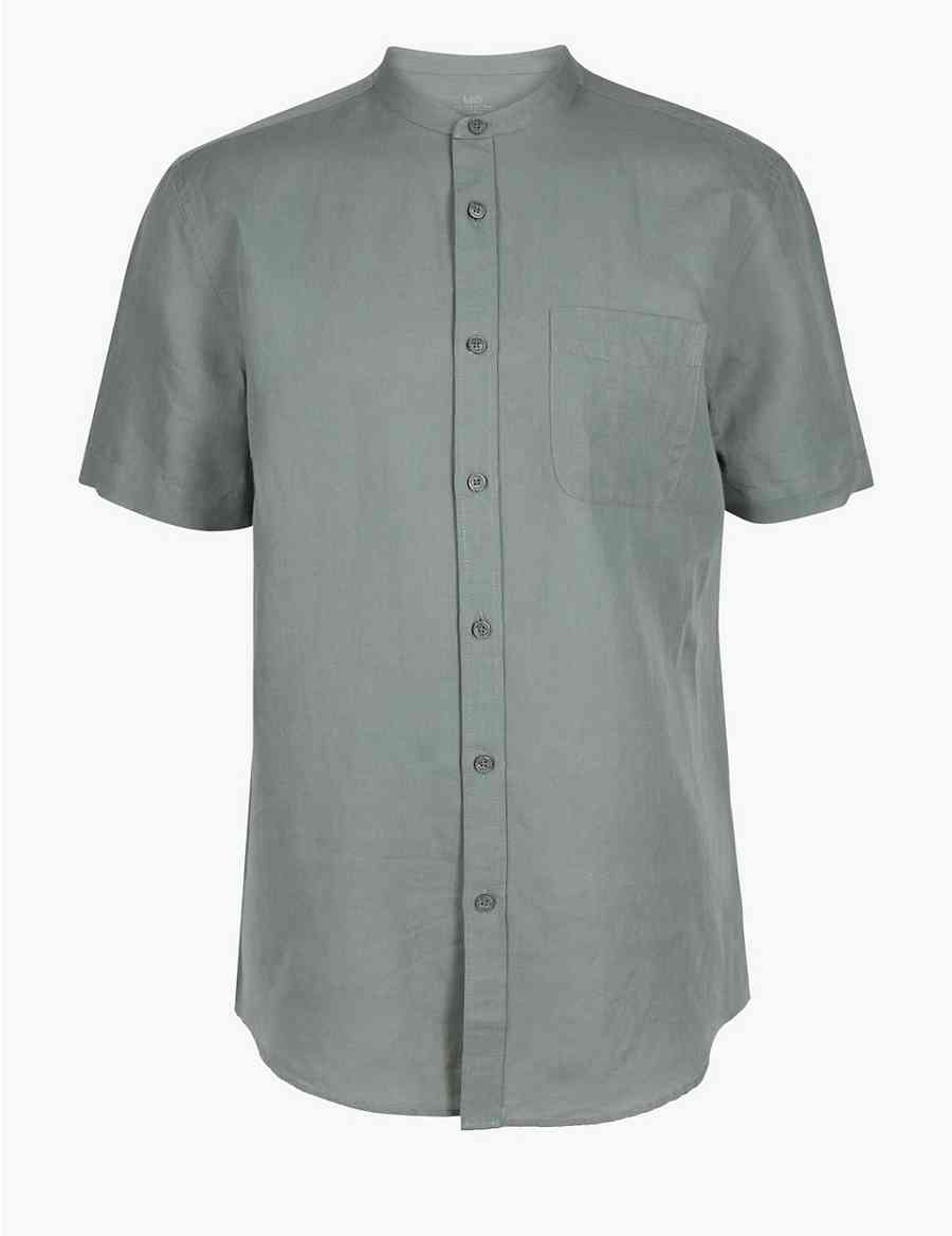 Linen Rich Shirt With Pocket Ms Collection Ms