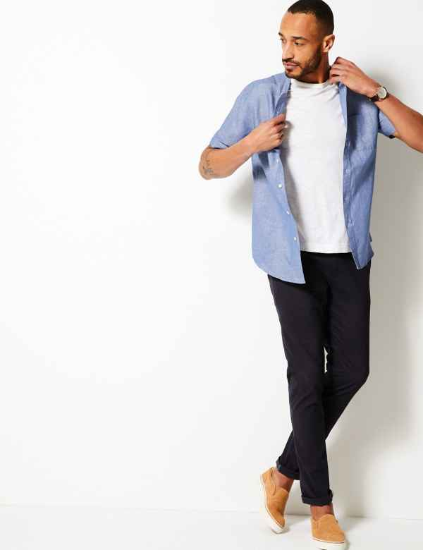 e23f0d57f21 Mens Linen Clothing - Shirts