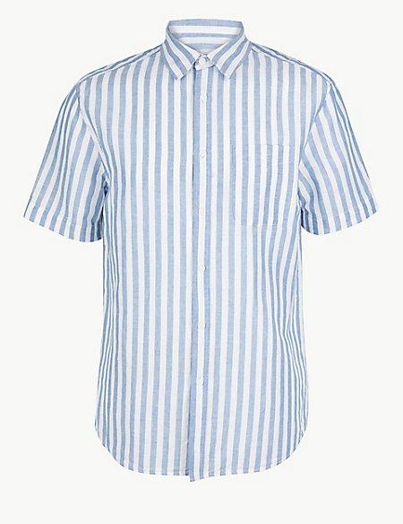 Linen Rich Striped Shirt