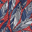 Pure Cotton Leaf Print Shirt, RED MIX, swatch