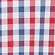 Pure Cotton Checked Shirt with Pocket, RED MIX, swatch