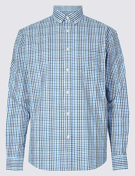 Pure Cotton Relaxed Fit Shirt with Pocket