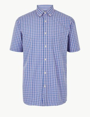 Pure Cotton Checked Shirt £17.50 c4a2c3d6ac2