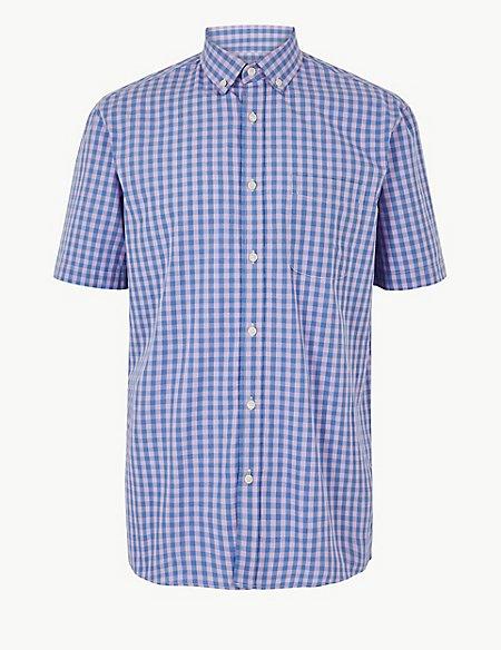 Pure Cotton Checked Shirt