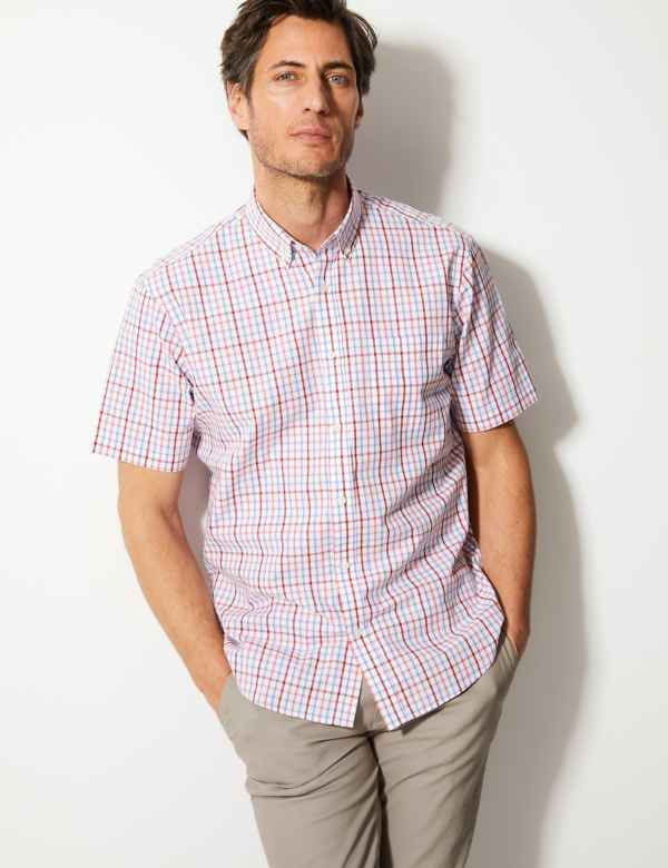 f1c2674d0a47b Pure Cotton Checked Shirt