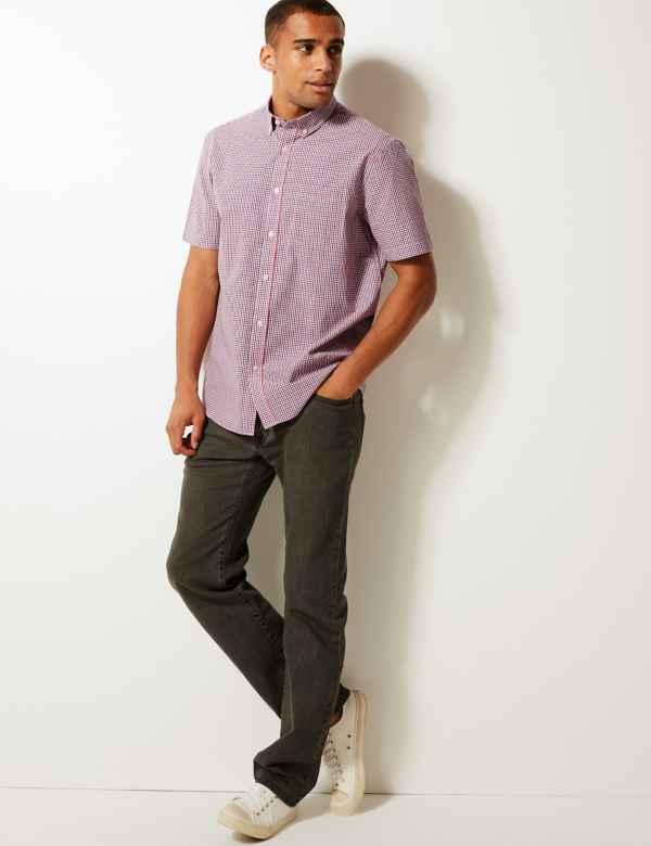 e3c0fe59e0 Pure Cotton Checked Shirt