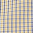 Pure Cotton Checked Shirt, YELLOW, swatch