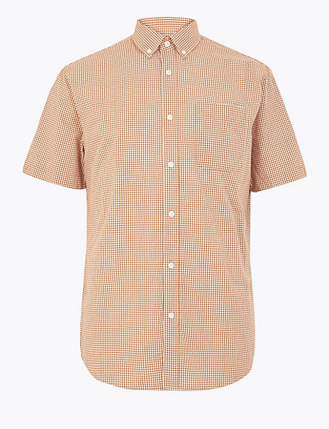 Cotton Gingham Relaxed Shirt