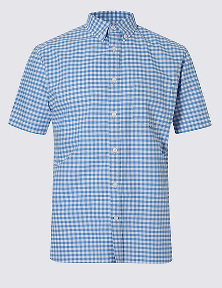 Pure Cotton Oxford Checked Shirt