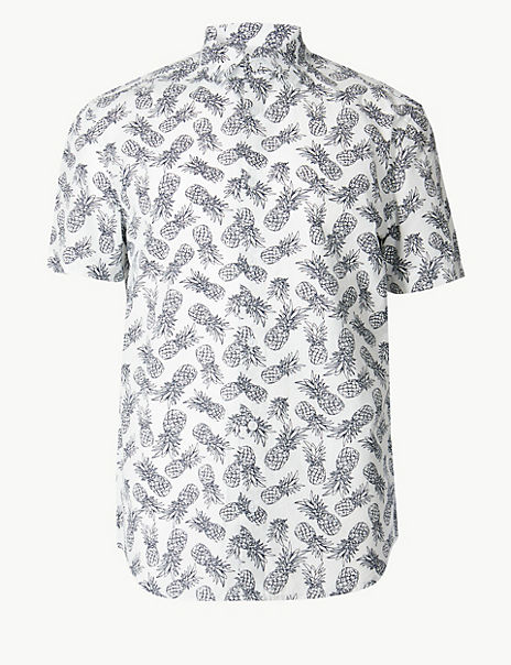 Pure Cotton Pineapple Print Shirt