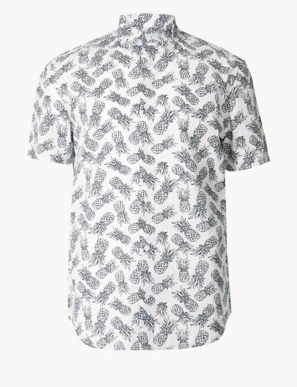 6acd2f21ab Pure Cotton Pineapple Print Shirt