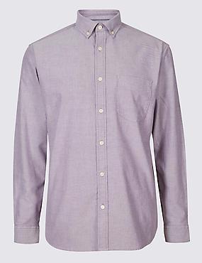 Pure Cotton Plain Oxford Shirt