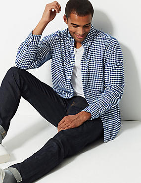66eddd06a2d Kostkovaná košile Oxford ze 100% bavlny ...