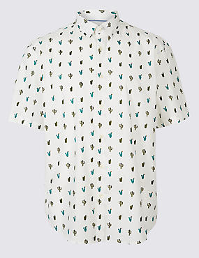 Pure Cotton Cactus Print Shirt