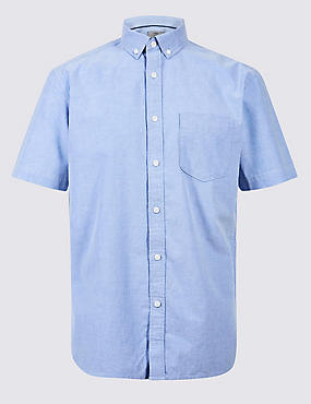 Pure Cotton Slim Fit Oxford Shirt