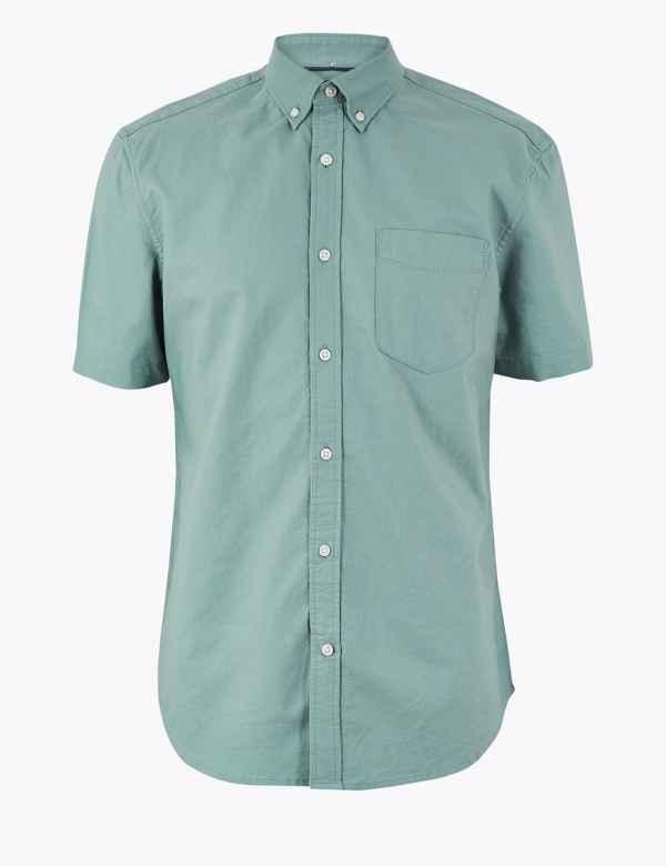 a0e1cffdc2 Pure Cotton Oxford Shirt