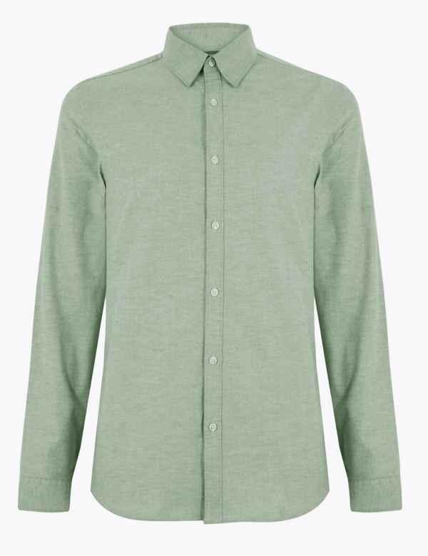 0468fd34c297ca Slim Fit Oxford Shirt with Stretch
