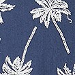 Pure Cotton Palm Print Shirt, NAVY MIX, swatch