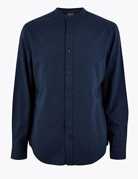 Pure Cotton Grandad Oxford Shirt