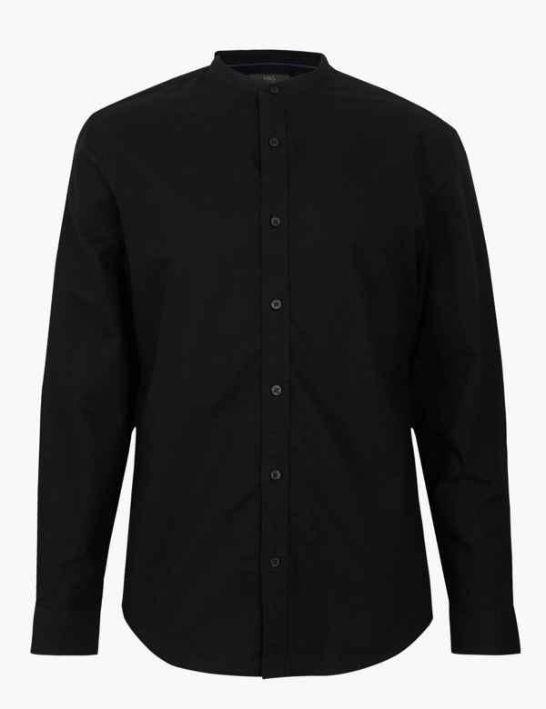 0a46359543e1 Pure Cotton Grandad Oxford Shirt