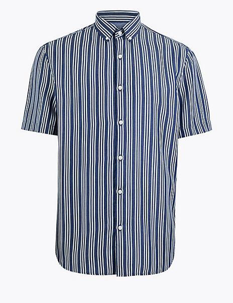 Striped New Regular Fit Oxford Shirt