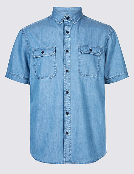Pure Cotton Authentic Shirt with Pockets