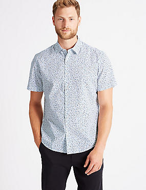 Pure Cotton Floral Print Shirt