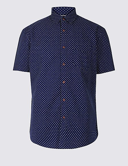 Pure Cotton Printed Shirt with Pocket