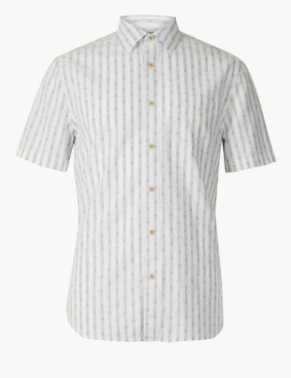 13b76b8bc6f Pure Cotton Striped Shirt. New and Improved Fit