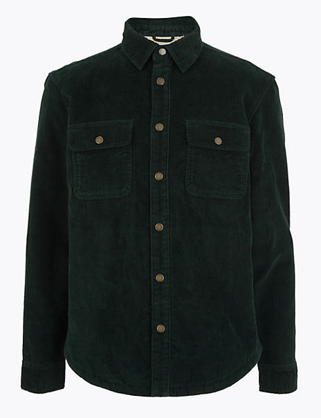 Pure Cotton Corduroy Overshirt