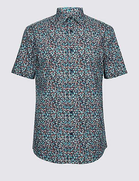 Pure Cotton Floral Print Shirt