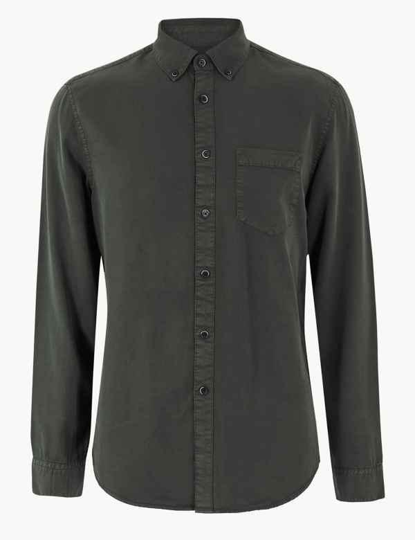 2bac6e54c5ab0 Long Sleeve Shirt with Pocket