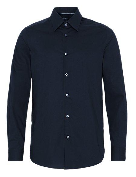 Stretch Cotton Classic Collar Shirt