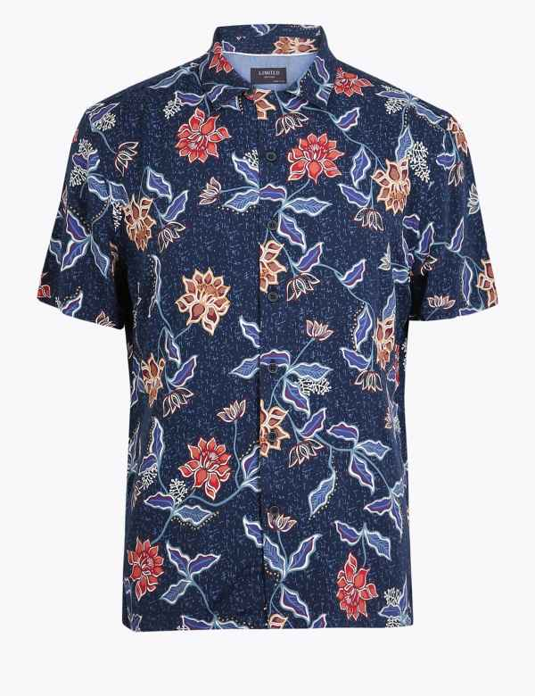 best sneakers 77739 bb9aa Short Sleeve Shirts for Men| M&S