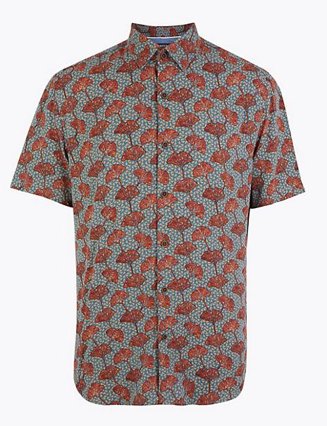 Poppy Print Shirt