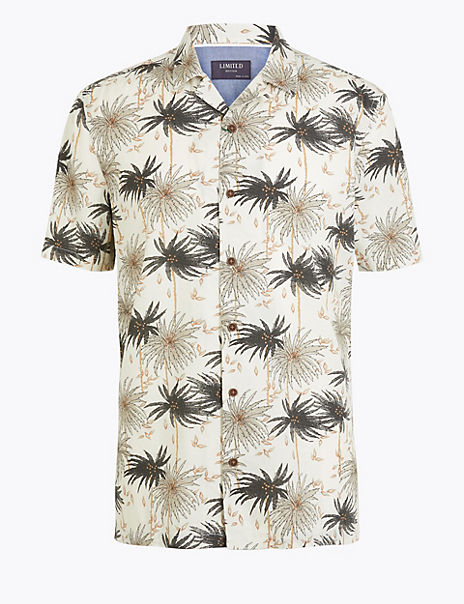 Cotton Palm Print Shirt